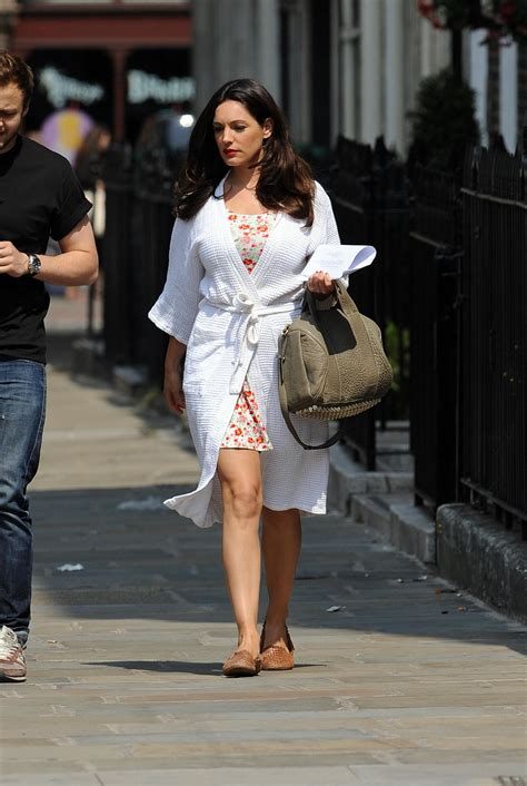 Kelly Brook seen out on set of her new movie 'Taking Stock