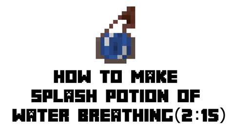 Minecraft Survival: How to Make Splash Potion of Water